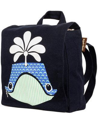 Coq en Pâte Whale Backpack by Mibo - 100% Organic Cotton (23x23x7.5 cm) Small Backpacks