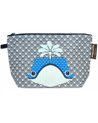 Coq en Pâte Whale Blue Pencil Case/Pouch - 100% Organic Cotton Canvas null