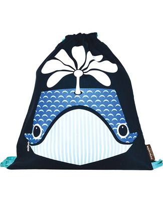 Coq en Pâte Whale Kids Soft Backpack/Bag - 100% Organic Cotton (37 x 33 cm) Small Backpacks