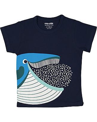 Coq en Pâte Whale T-Shirt, Navy - 100% Organic Cotton T-Shirts And Vests