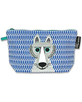Coq en Pâte Wolf Pencil Case/Pouch - 100% Organic Cotton Canvas null