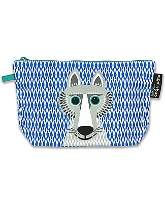 Coq en Pâte Wolf Pencil Case/Pouch - 100% Organic Cotton Canvas Pencil Cases