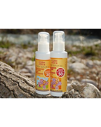 Cosm-Etica Organic Sun Screen, SPF 50+, 125 ml - Natural SPF, UVA/UVB Sun Screen