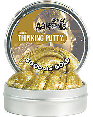 Crazy Aaron Thinking Putty Good as Gold Precious, With Sparkling Glitter! - Fun and Safe Creative Toys
