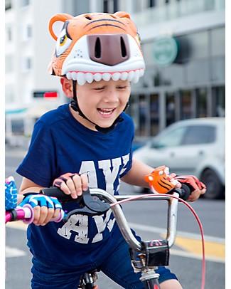Crazy Safety Kids Bike Helmet, Orange Tiger - Colorful, Lightweight and Indestructible! Bycicles