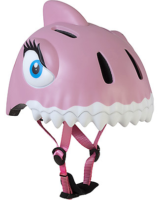 Crazy Safety Kids Bike Helmet, Pink Shark - Colorful, Lightweight and Indestructible! Bycicles