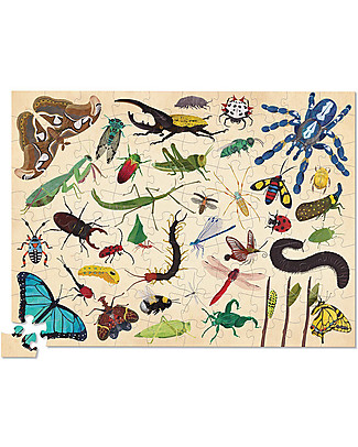 Crocodile Creek 100piece Puzzle in Canister, 36 Insects - Play and learn! Puzzles