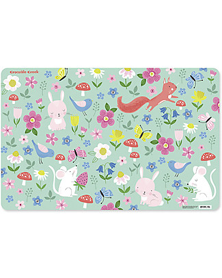 Crocodile Creek Backyard Animals Placemat - 28 x 43,5 cm Meal Sets