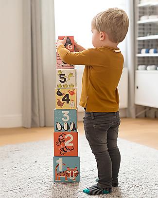 Crocodile Creek Cardboard Nesting Blocks, Animalia 123 - 1 meter tall! Creative Toys