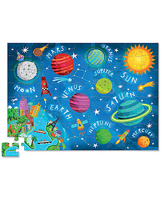 Crocodile Creek Junior Shaped Box Puzzle, Solar System - 72 pieces! Puzzles