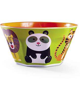 Crocodile Creek Melamine Baby Bowl, 14 cm, Animalia - Free from BPA, PVC, phthalates, lead! Bowls & Plates