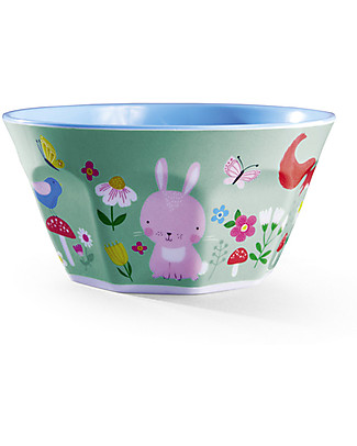 Crocodile Creek Melamine Baby Bowl, 14 cm, Backyard Friends - Free from BPA, PVC, phthalates, lead! Bowls & Plates