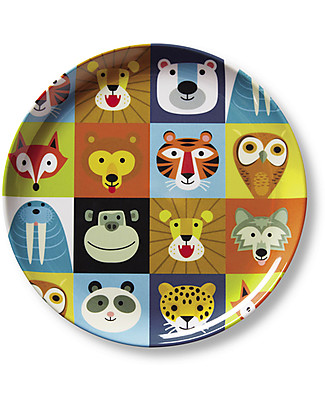 Crocodile Creek Melamine Baby Plate, 19.5 cm, Animalia - Free from BPA, PVC, phthalates, lead! Bowls & Plates