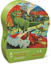 Crocodile Creek Mini Shaped Box Puzzle, Land of Dinosaurs - 24 pieces! Puzzles
