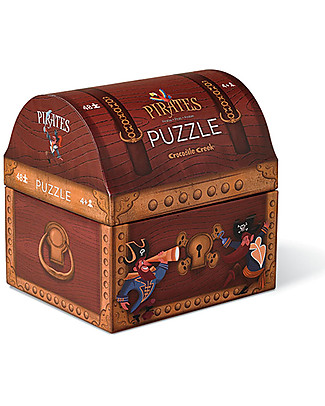 Crocodile Creek Novelty Shaped Box Puzzle, Treasure Chest, 48 pieces! Puzzles