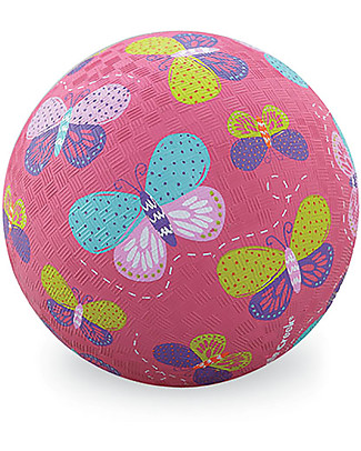 Crocodile Creek Playball - 18 cm - Pink Butterflies Beach Toys