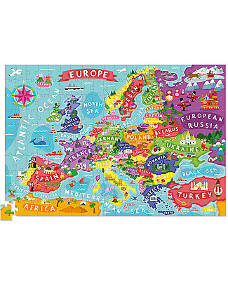 Crocodile Creek Puzzle with Poster - Discover Europe, 200 pezzi! Puzzles