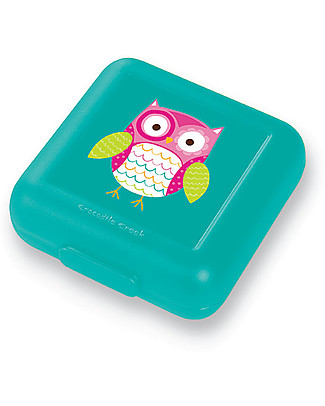 Crocodile Creek Sandwich Keeper, Owl - 13 x 14 x 5 cm Snack and Formula Containers