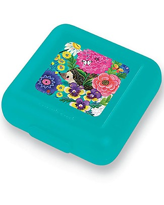 Crocodile Creek Sandwich Keeper, Secret Garden - 13 x 14 x 5 cm Snack and Formula Containers