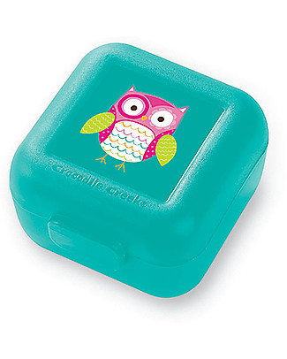 Crocodile Creek Set of 2 Snack Keepers, Owl - 7.50 x 9 x 5 cm Snack and Formula Containers