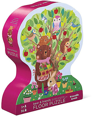 Crocodile Creek Shaped Puzzle, Bear&Friends - 36 pieces - Wonderful Illustrated Box and Great Gift Idea! Puzzles