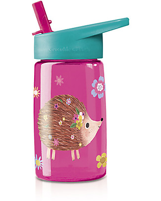 Crocodile Creek Tritan Children's Drinking Bottle 500 ml, Hedgehog - Safe and recyclable! null