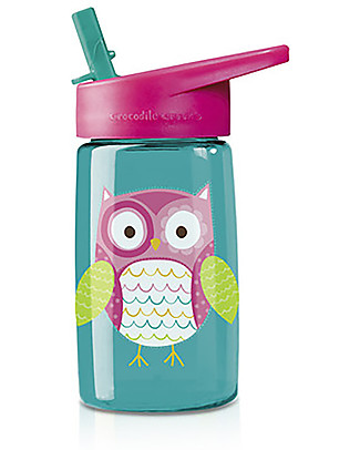Crocodile Creek Tritan Children's Drinking Bottle 500 ml, Owl – Safe and recyclable! BPA-Free Bottles