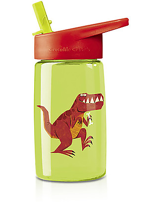 Crocodile Creek Tritan Children's Drinking Bottle 500 ml, T-Rex – Safe and recyclable! null