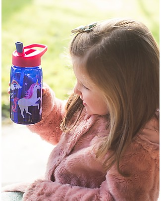 Crocodile Creek Tritan Children's Drinking Bottle 500 ml, Unicorn - Safe and Recyclable! BPA-Free Bottles