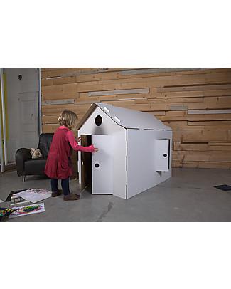 Decoramo Mìcasa, Recycled Cardboard House – 85 cm tall! Paper & Cardboard
