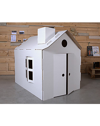 Decoramo Mìcasa, Recycled Cardboard House - 85 cm tall! Paper & Cardboard