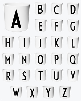 "Design Letters & Friends Personal Melamine Letter Cup A-Z - ""AJ Vintage ABC"" by Arne Jacobsen Collection Cups & Beakers"