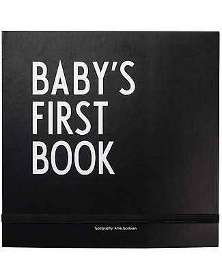 """Design Letters & Friends Baby's First Book, Black, 25 x 25 cm – """"AJ Vintage ABC"""" by Arne Jacobsen Collection Baby's First Albums"""