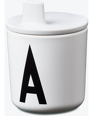 Design Letters & Friends Drink Lid for Letter Cup, White – Easy to use sippy cap! Cups & Beakers