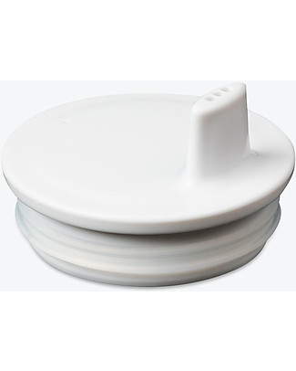 Design Letters & Friends Drink Lid for Letter Cup, White - Easy to use sippy cap! Cups & Beakers