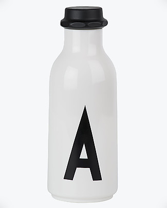 "Design Letters & Friends Personal Drinking Bottle, 500 ml, A -Z  ""AJ Vintage ABC"" by Arne Jacobsen Collection BPA-Free Bottles"