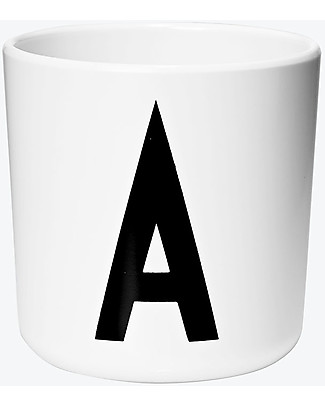 "Design Letters & Friends Personal Melamine Letter Cup A-Z – ""AJ Vintage ABC"" by Arne Jacobsen Collection Cups & Beakers"
