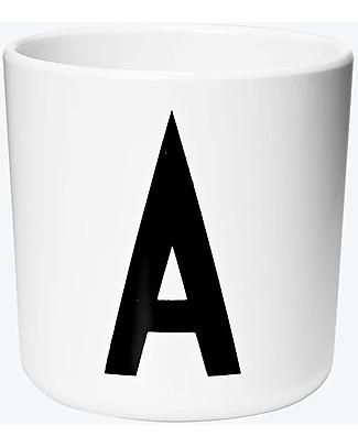 "Design Letters & Friends Personal Melamine Letter Cup A-Z – ""AJ Vintage ABC"" by Arne Jacobsen Collection null"