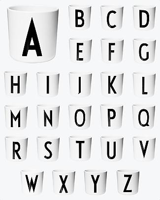 "Design Letters & Friends Personal Melamine Letter Cup A-Z - ""AJ Vintage ABC"" by Arne Jacobsen Collection null"