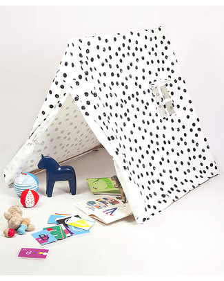 "Deuz Black Dots Kid's Tent - Fun ""Go Camping"" Playing Tent for Children Tepees & Tents"