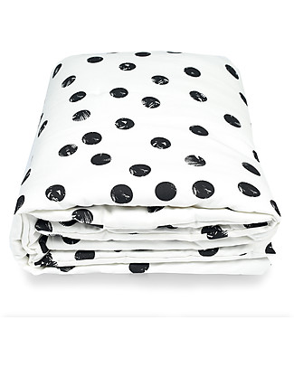 Deuz Black Dots Playmat - 100% Organic Cotton, 100 x 100 cm  Playmats