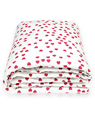 Deuz Fuchsia Hearts Playmat - 100% Organic Cotton, 100 x 100 cm  Playmats