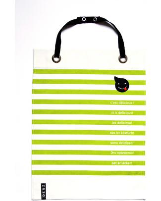 Deuz Napkid Napkin & Apron Green Lime - 100% Organic Snap Bibs