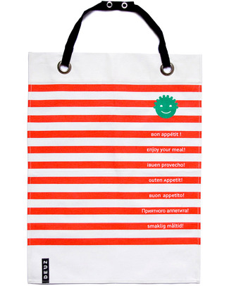 Deuz Napkid Napkin & Apron Red & White - 100% Organic Snap Bibs