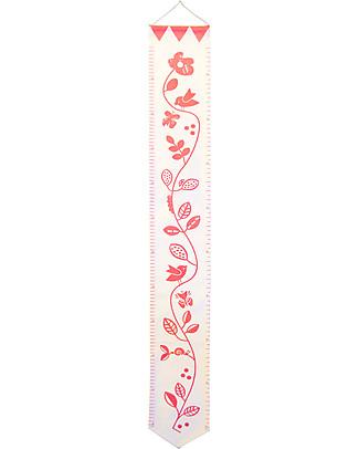 Deuz Organic Cotton Garden Growth Chart, Pink Garden - 1 to 12 years Wall Stickers