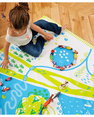 Deuz Tapikid Playmat Nature - 100% Organic Cotton - Lime Green Playmats