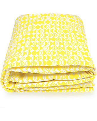 Deuz Yellow Leaves Playmat - 100% Organic Cotton, 100 x 100 cm  Playmats