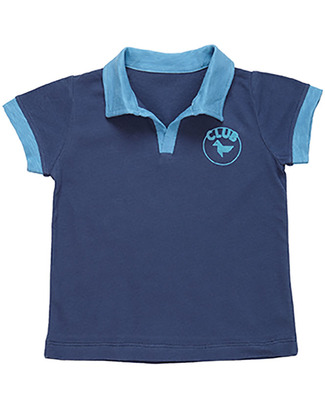 Dis Une Couleur Navy Blue Polo - Organic Cotton T-Shirts And Vests