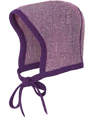Disana Baby Bonnet- Plum Melange - 100% merino wool Hats