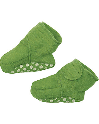 Disana Boiled wool booties, Green null